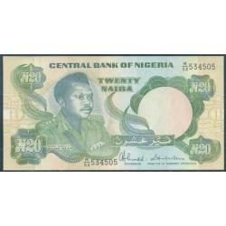 Nigeria 20 Naira PK 26c (1.984) S/C