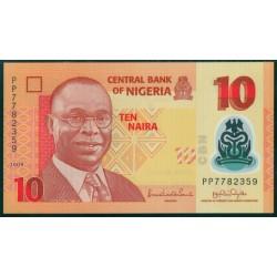 Nigeria 10 Naira PK 33c (2009) S/C