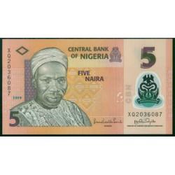 Nigeria 5 Naira PK 38 (2.009) S/C