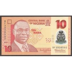 Nigeria 10 Naira PK Nuevo (39) (2.014) S/C