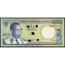 República Dem. del Congo 1.000 Francos PK 8 (1-8-1.964) Inutilizado. S/C-