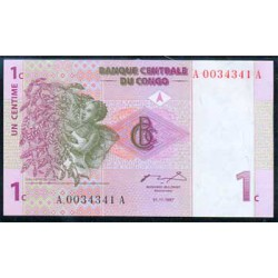 República Dem. del Congo 1 Céntimo PK 80a (1-11-1.997) S/C