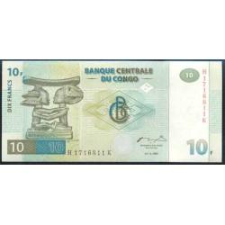 República Dem. del Congo 10 Francos PK 87 B (1-11-1.997) S/C