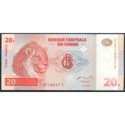 República Dem. del Congo 20 Francos PK 88a (1-11-1.997) S/C