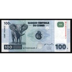 República Dem. del Congo 100 Francos PK 92 (2.000) S/C