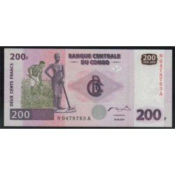República Dem. del Congo 200 Francos PK 95 (30-6-2.000) S/C