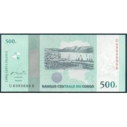 República Dem. del Congo 500 Francos PK 100 (30-6-2.010) S/C