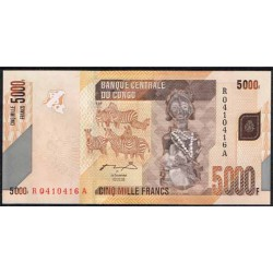 República Dem. del Congo 5.000 Francos PK 102 (2.005/2012) S/C