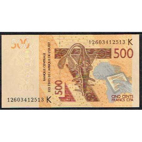 Senegal (Est. Afric. del Oeste) 500 Francos PK Nuevo (2.012) S/C