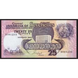 Seychelles 25 Rupias PK 33 (1.989) S/C