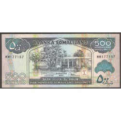 Somalilandia 500 Shillings PK 6h (2.011) S/C