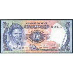 Suazilandia 10 Emalangeni Pk 10c (1.985) S/C
