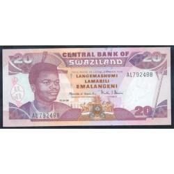 Suazilandia 20 Emalangeni Pk 25c (1-4-1.998) S/C