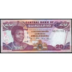 Suazilandia 20 Emalangeni Pk 30c (1-4-2.006) S/C