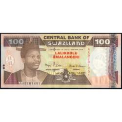 Suazilandia 100 Emalangeni Pk 32b (1-4-2.001) S/C