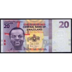 Suazilandia 20 Emalangeni Pk 37 (6-9-2.010) S/C