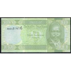 Sudán del Sur 10 Piasters PK 2 (2.011) S/C