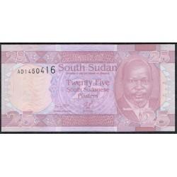 Sudán del Sur 25 Piasters PK 3 (2.011) S/C