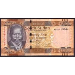 Sudán del Sur 25 Libras PK 8 (2.011) S/C