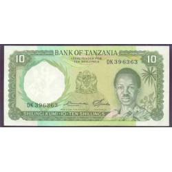 Tanzania 10 Shilingi Pk 2e (1.966) S/C