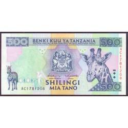 Tanzania 500 Shilingi Pk 30 (1.997) S/C