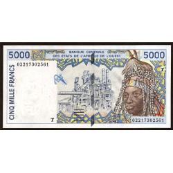 Togo ( Est. Afric. del Oeste ) 5.000 Francos Pk 813 Tk (2.002) S/C