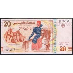 Túnez 20 Dinares Pk 93 (20-3-2.011) S/C