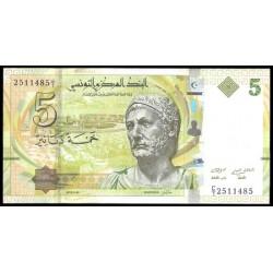 Túnez 5 Dinares Pk 95 (20-3-2.013) S/C