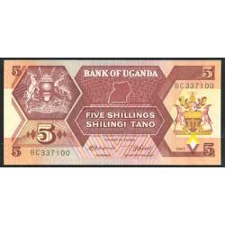 Uganda 5 Shillings PK 27 (1.987) S/C
