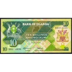 Uganda 10 Shillings PK 28 (1.987) S/C