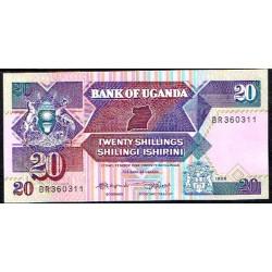 Uganda 20 Shillings PK 29b (1.988) S/C