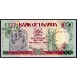 Uganda 1.000 Shillings PK 34b (1.991) S/C