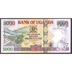 Uganda 5.000 Shillings PK 44d (2.009) S/C