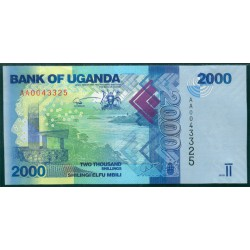 Uganda 2.000 Shillings PK 50 (2.010) S/C