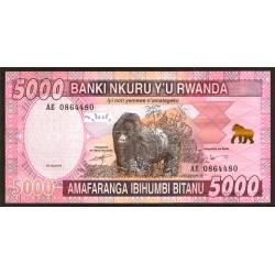 Ruanda 5.000 Francos PK Nuevo (1-12-2.014) S/C