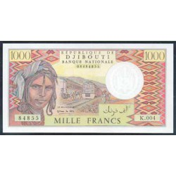 Yibuti 1.000 Francos Pk 37d (2) (1.991) S/C
