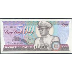 Zaire 500 Zaires PK 30b (14-10-1.985) S/C