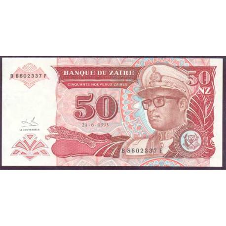 Zaire 50 Nuevos Zaires PK 57 (24-6-1.993) S/C