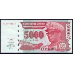 Zaire 5.000 Nuevos Zaires PK 69 (30-1-1.995) S/C