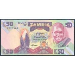Zambia 50 Kwachas PK 28a (1.986-88) S/C