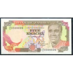 Zambia 5 Kwachas PK 30 (1.989) S/C