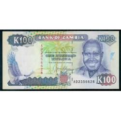 Zambia 100 Kwachas PK 34 (1.991) S/C