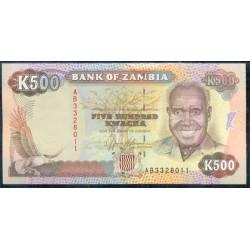 Zambia 500 Kwachas PK 35 (1.991) S/C
