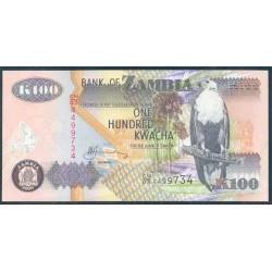 Zambia 100 Kwachas PK 38f (2.006) S/C