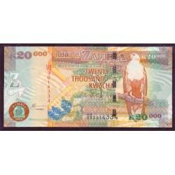 Zambia 20.000 Kwachas PK 47a (2.003) S/C