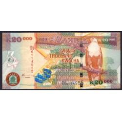 Zambia 20.000 Kwachas PK 47f (2.010) S/C