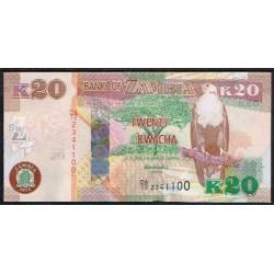 Zambia 20 Kwacha PK 52 (2.012) S/C