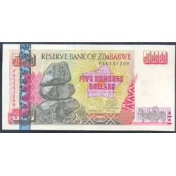 Zimbabwe 500 Dólares PK 10 (2.001) S/C