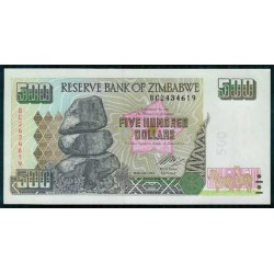 Zimbabwe 500 Dólares PK 11b (2.004) S/C
