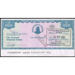 Zimbabwe 50.000 Dólares Travellers Cheque PK 19 (2.003) MBC